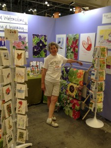 after setting up the booth, prior to show opening