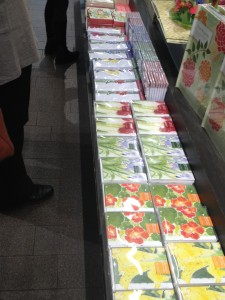 love how colorful this display looks…and the long line of it all made my head swoon when I first saw it!