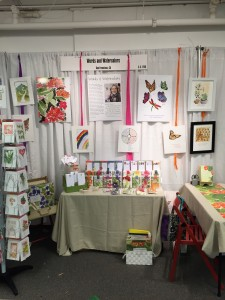Booth set and ready to write orders!